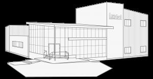 Firmengebäude Zittau schattiert